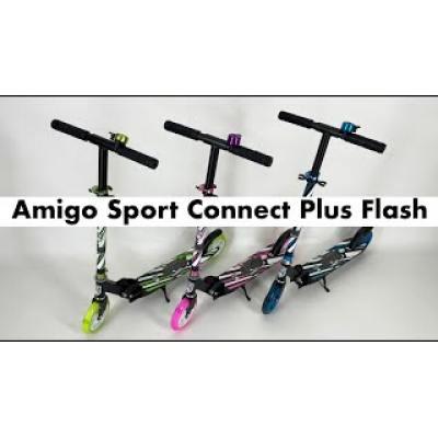Самокат Amigo Sport Connect Plus Flash синій