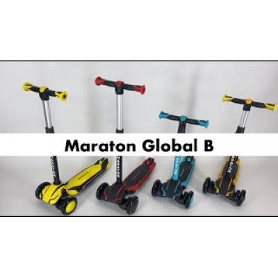 Самокат Maraton Global B триколісний помаранчевий