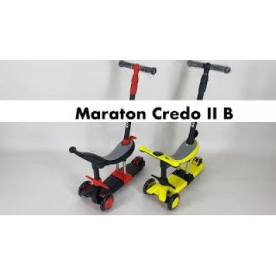 Самокат - біговел Maraton Credo II B 3 в 1 чорний